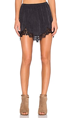 Obey Livingston Skirt in Black