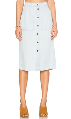 Obey St. Gilles Skirt in Chambray