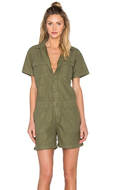 Obey Raleigh Romper in Army