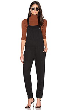 Obey Ridgefield Overalls in Black