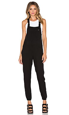 Obey Fairfield Overalls in Black