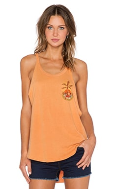 Obey Isla Tank in Dusty Apricot Tan