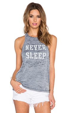 Obey Never Sleep Tank in Evening Blue