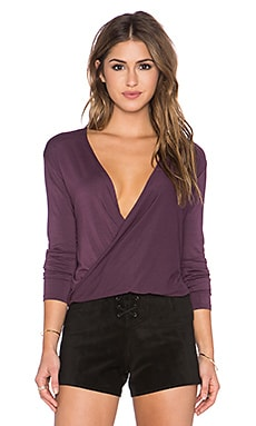 Obey Reina Long Sleeve Top in Grape Wine