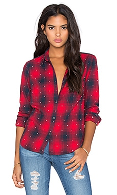 Obey Redwood Button Up in Red Multi