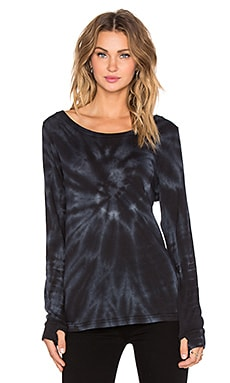 Obey Jett Top in Black Tie Dye