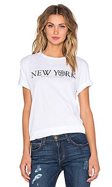Obey Times Zone New York Tee in Optic White