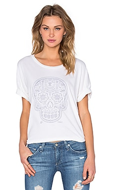 Day of the Dead Ramona Tee in Snow White