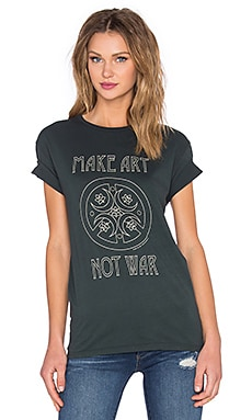 Obey Make Art Not War Classic Tee in Emerald