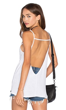 Thea Open Back Tank in White