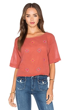 Sun Bloom Crop Top in Dusty Picante