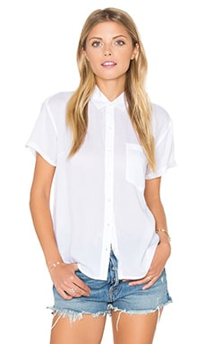 Dark Alley Buttondown Shirt in White