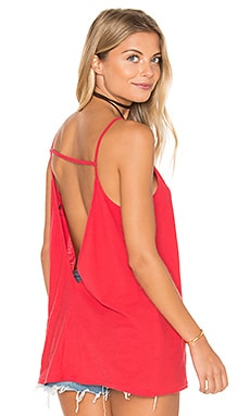 Obey Thea Open Back Tank in Poppy