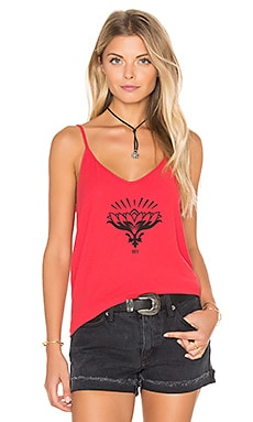 Obey Lotus Flower Tank in Poppy