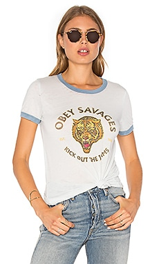 Tiger Savages Tee in Sky Blue & Stormy Sea