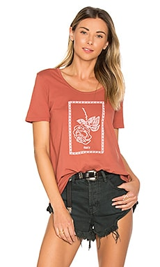Nobody's Flower Madison Scoop Neck Tee in Rose Dawn