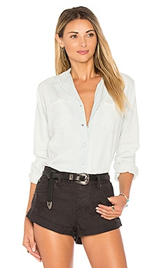 Hudson Button Down Shirt in White