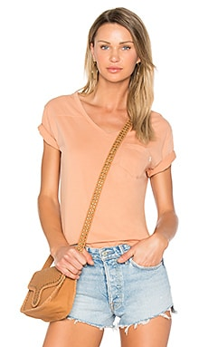 Flipside V Neck Tee in Dusty Coral