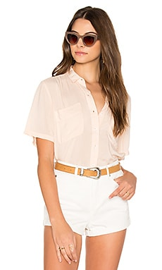 St. Marina Button Down in Tender Peach