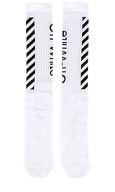 CALCETINES DIAG MID LENGTH OFF-WHITE $90