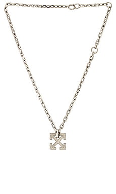 Textured Arrow Necklace OFF-WHITE $445