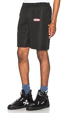 Split Logo Mesh Shorts OFF-WHITE $270