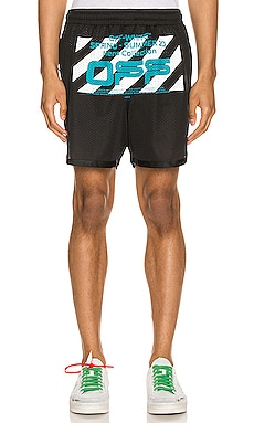 Wavy Line Logo Mesh Short OFF-WHITE $207