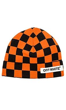 Big Checker Beanie OFF-WHITE $136