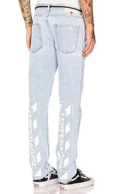 Temperature Slim 5 Pocket Jeans OFF-WHITE $397