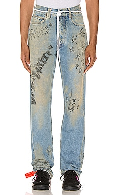 Wizard Relaxed Fit Jeans OFF-WHITE $522