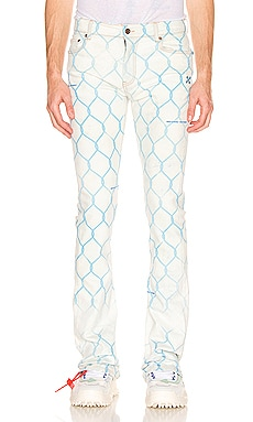 Fence Skinny Stacked Jeans OFF-WHITE $495