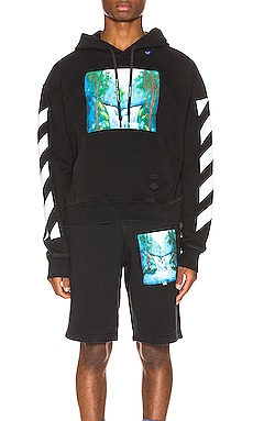 SUDADERA DIAG WATERFALL OFF-WHITE $448
