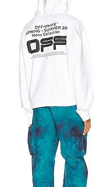 Wavy Line Logo Over Hoodie OFF-WHITE $399