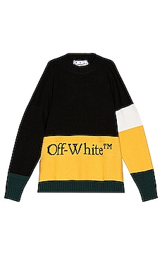 Color Block Off Crewneck Sweater OFF-WHITE $725