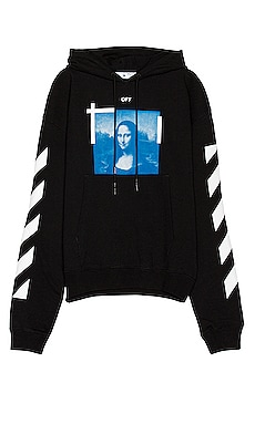 SWEAT À CAPUCHE BLUE MONA LISA OFF-WHITE $565