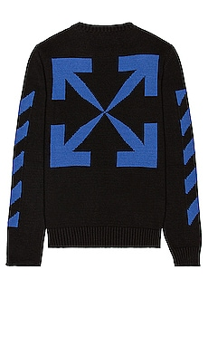 Diag Knit Crewneck OFF-WHITE $575