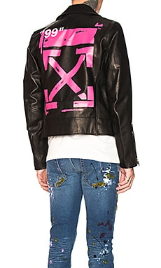 Leather Biker OFF-WHITE $1,765