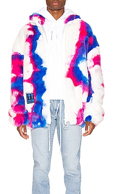 Faux Fur Zip Anorak OFF-WHITE $1,175 NEW ARRIVAL