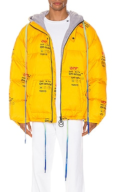 Industrial Zipped Puffer OFF-WHITE $1,470