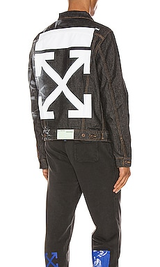 Arrow Slim Denim Jacket OFF-WHITE $785