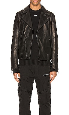 Leather Biker Jacket OFF-WHITE $1,274