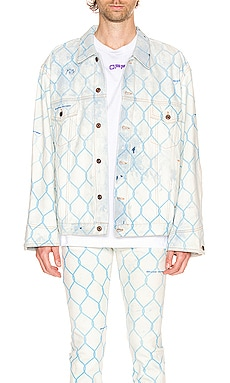 Fence Jeans Jacket OFF-WHITE $658