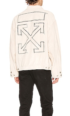 CHAQUETA CUERO TAFT POINT OFF-WHITE $2,495
