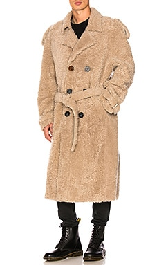 Shearling Trench Coat OFF-WHITE $1,465