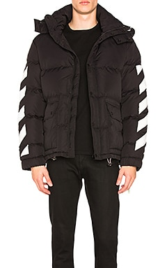 Diagonal Brushed Down Jacket