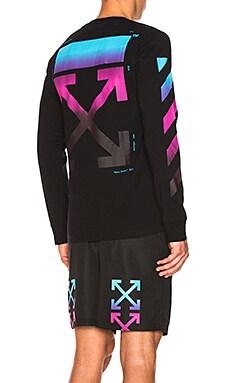 Diagonal Gradient Long Sleeve Tee OFF-WHITE $390