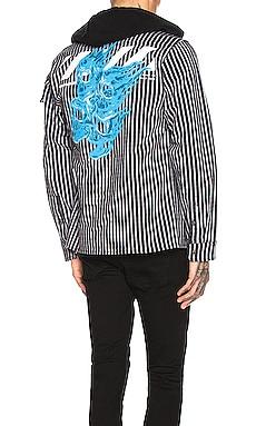 Striped Printed Hoodie Shirt OFF-WHITE $576