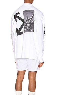 CAMISETA SPLITTED ARROWS OVER MOCK OFF-WHITE $263