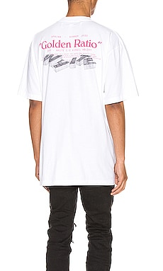 Golden Ratio Over Tee OFF-WHITE $224
