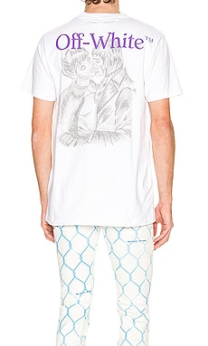 T-SHIRT GRAPHIQUE PENCIL KISS OFF-WHITE $224